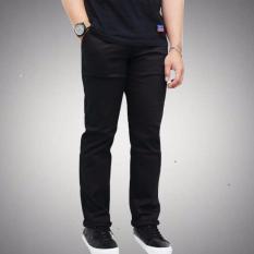 3K Celana Chino Panjang  - Twill Swed - Hitam