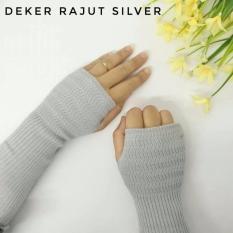3K Handsock Finger - Manset Rajut - Abu