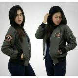 Jual 3K Jaket Bomber Wanita Kicksogar Despo Hijau Army 3K Fashion Di Jawa Barat