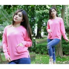 3K Pocky Sweater - Rajut Prmium - Pink Baby