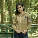 Katalog 3K Women Bomber Hodie Attention Mocca Baby Kanvas 3K Fashion Terbaru