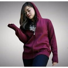 Tips Beli 3Kfashion Hodie Finger Sweater Cotton Knite Maroon Yang Bagus