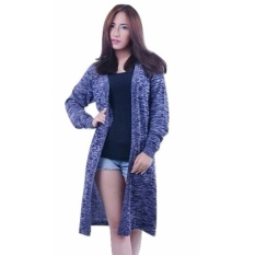 3KFashion Long Twist Cardy - Navy - Rajut Katun