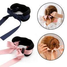 Jual Cepat 3 Pcs Ribbon Magic French Twist Bun Maker Holder Roll Rings Hairband Turban Bun Maker Rambut Donut Hair Bun Donut Hair Piece