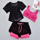 Beli 3 Pcs Wanita Perlengkapan Olahraga Benang Bersih Yoga Blus Bra Shorts Menjalankan Pakaian Pelatihan Bra Dengan Ritsleting Celana Pendek Kotak Intl Seken