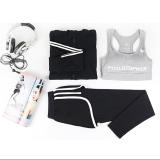 Harga 3 Pcs Wanita Yoga Menjalankan Pocket Jactet Celana Bra Tiga Potong Set Women S Gym Olahraga Suit Intl New