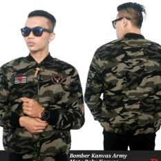 3R/jaket Bomber kanvas /cowo/ouval armi