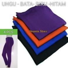 4 Pcs - Legging Spandek Polos Panjang JUMBO/ STANDAR -  Celana Wanita