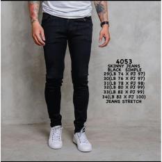 Model 4053 Skinny Jeans Black Simple Stretch Celana Jeans Panjang Pria Model Skinny Celana Panjang Slimfit Pria Distro Import Celana Cargo Celana Pria Impor Bahan Jeans Model Skinny Bawahan Fashion Pria Atasan Pria Celana Casual Celana Exclusive Pria Terbaru