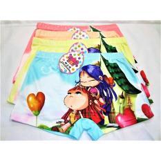 407 - 6pcs Celana Dalam Boxer Anak Cute Gilr Japanese Anime Chibi