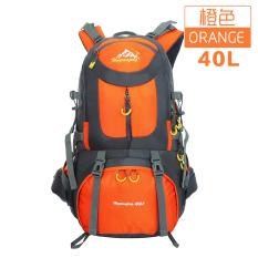 40L50L Pria Dan Wanita Pariwisata Kapasitas Besar Tahan Air Jalan Kaki Tas Ransel Luar Rumah Tas Gunung (Warna Jingga 40L)