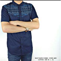 Harga Bajuku Murah Short Navy Batik Combi Fullset Murah