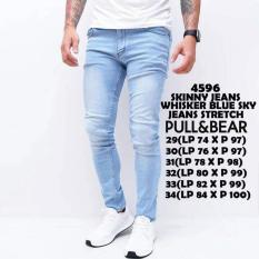 4596 skinny jeans whisker blue sky stretch celana jeans panjang pria model skinny/celana panjang slimfit pria distro import celana cargo celana pria impor bahan jeans model skinny bawahan fashion pria atasan pria celana casual celana exclusive pria