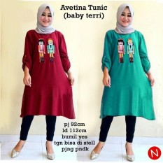 49484 Avetina Tunic/Baju Tunik Jumbo/Atasan Muslim Bigsize /Baju Muslim