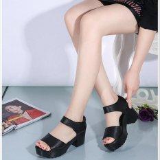 Beli 4 Ever Fashion Wanita Ikan Mulut Sandal Blok Tumit Sandal Terbuka Toe Musim Panas Latin Sepatu Tinggi Platform Sandal Ukuran 35 41 Hitam Intl Pakai Kartu Kredit
