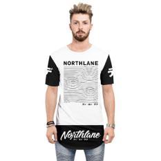 Diskon 4U Clothing Kaos Katun Lengan Pendek Pria T Shirt Longline Northlane Putih Akhir Tahun