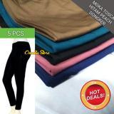 Diskon 5 Pcs Legging Spandek Polos Panjang Jumbo Dan Standar Celana Wanita Legging Di Indonesia