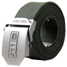 511 Sabuk Tactical Series Head Stainless Strap Nylon - Hijau Army