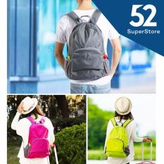 52  Tas Ransel Punggung Lipat / Backpack Waterproof 1701-09 - (Random Colour)