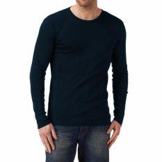 Kaos55 Kaos T-Shirt O-Neck Lengan Panjang Slim - Biru Dongker