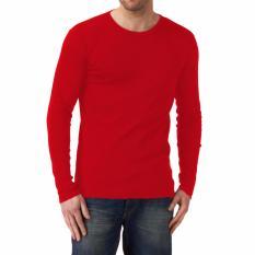 Kualitas Kaos55 Kaos T Shirt O Neck Lengan Panjang Slim Merah Cabe Kaos 55