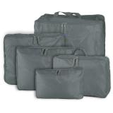 Spesifikasi 5Pcs Travel Luggage Storage Bag Clothes Organizer Handbag Grey Intl Terbaru