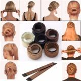 Harga 5 Pcs Women G*rl Magic Diy Hair Styling Donat Mantan Busa French Twist Bun Maker Tool 2017 Baru Fashion Fullset Murah