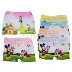 6 Pcs Celana Dalam CD Boxer Anak Perempuan Cewek
