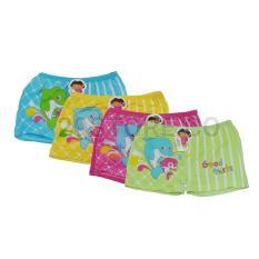6 Pcs Celana Dalam CD Boxer Anak Perempuan Cewek Karakter