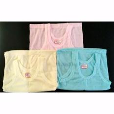 6 Pcs Kaos Dalam Anak - Singlet Anak - Size M, L, Xl - Warna Pink, Kuning, Biru By Nimari Underwear.