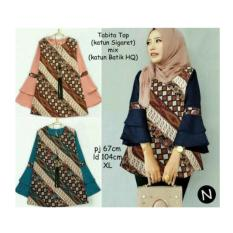 61116 tabita top/baju batik wanita/baju tunik/atasan muslim wanita