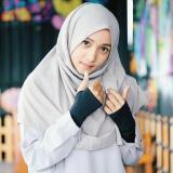 Spesifikasi 7 Pasang Handsock Jempol Syar I Handsock Muslimah Manset Tangan Muslimah Warna Hitam Bagus
