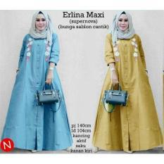 73100 erlina maxi/maxi dress/dress muslim/baju muslim wanita murah
