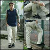 Review 7Dj Celana Chinos Formal Casual Katun Skinny Pensil Pria Cream Terbaru