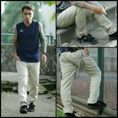 Beli 7Dj Celana Chinos Formal Casual Katun Skinny Pensil Pria Cream Jawa Barat