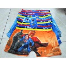 Review 804 6Pcs Celana Dalam Boxer Anak Cd Anak Superman Aikushi