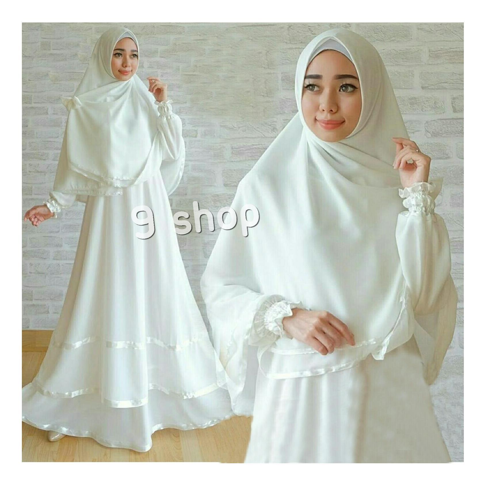 Harga 9 Shop Baju Gamis Dress Muslim Wanita Syari Anggun Dapat Obral Eve Ag  02 Modern d432d6536f