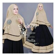 9 Shop Baju Gamis Dress Muslim Wanita Syari BELLA ( Dapat Jilbab ) / Baju Muslim Wanita /Gamis Muslimah / Hijab Wanita / Gamis Murah / Gamis Terbaru / Gamis Wanita / Maxi Dress Lengan Panjang / Syari Muslim / Syari'i Wanita