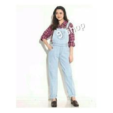 9 Shop Overall Jumpsuit Jeans Wanita Audelia - BIRU TERANG ( No Inner ) / Baju