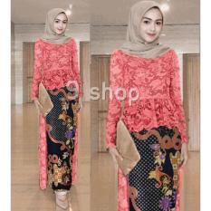 9 Shop Set 2in1 Kebaya Modern dan Rok Batik Wanita VETIE - ORANGE ( Tanpa  Jilbab 9a58336c6d