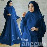 Beli 9 Shop Set Gamis Syari Muslim Wanita Anggun Navi Dress Muslim Syar I Muslim Hijab Muslim Gamis Wanita 9 Shop Murah