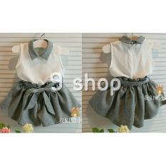 9 Shop Stelan Baju dan Celana Anak Perempuan Kiddy ( Free Tali Belt ) - ABU / Stelan Anak / Baju Anak