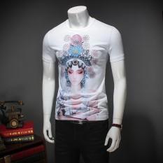 Seorang Pria Bernyanyi Atas Nama Lengan Pendek Katun T-shirt Printing Facebook Korea Pria Ukuran Kaos-International
