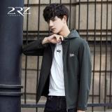 Toko A01 Korea Baru Musim Gugur Musim Tipis Fesyen Pria Jaket Hoodie Polos Slim Coat Rz Qkj8719 Hijau Tentara Internasional Yang Bisa Kredit