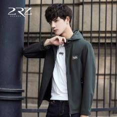 Spesifikasi A01 Korea Baru Musim Gugur Musim Tipis Fesyen Pria Jaket Hoodie Polos Slim Coat Rz Qkj8719 Hijau Tentara Internasional Yg Baik