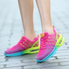 Beli Barang A01 Gaya Baru Wanita Fashion Olahraga Anti Getaran Sepatu Ventilasi Air Cushion Menjalankan Sneakers 861 Merah Internasional Online