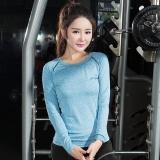 Toko A02 Musim Gugur Fashion Women Yoga Sport T Shirt Cepat Kering Menjalankan Lengan Panjang Shirt Fb16100 Biru Intl Terlengkap Tiongkok