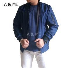 A&ME - Jaket Bomber Jaket Parasut Bolak Balik Jaket Parka Parca Jaket Pria Wanita Jaket Pilot Distro 2 Lapis  + Kupluk Hoodie Bahan Parasut Tebal