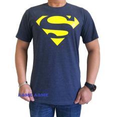 A&ME-Kaos T-shirt Distro Fashion Cotton Combet 30s Kaos Pria Kaos Fashion Atasan Cewek Cowok Baju Keren Simple Sablonan Anime Gambar Supermen - Kaos Abuabu Navy