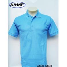 A Me Kaos Polo Shirt M L Xl Lengan Pendek Baju Pakaian Olah Raga Kaos Kerah Atasan Pria Wanita Lacos Pique Fashion Keren Nyaman Bagus Simple Biru Danau Toska Murah